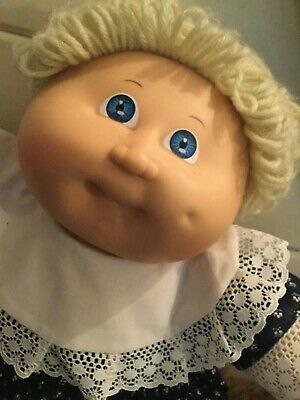 Vintage Coleco Cabbage Patch P Factory Doll Signed 1982 Blonde Blue Eyes