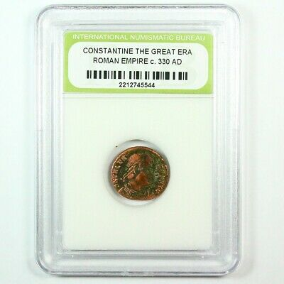 Slabbed Ancient Roman Constantine the Great Coin c. 330 AD Exact Coin Shown 6320