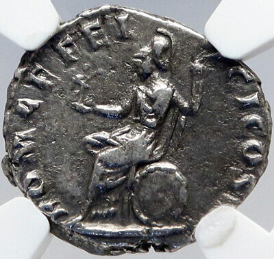COMMODUS the GLADIATOR Emperor Authentic Ancient Silver Roman Coin NGC i82914