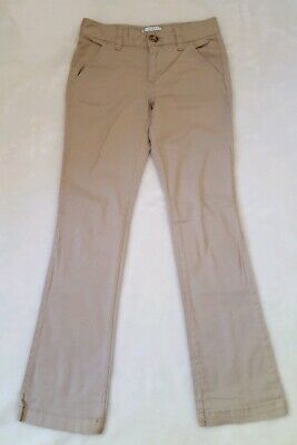 OLD NAVY Girls Khaki Pants 10 Slim 10 S 10S Tan Jeans