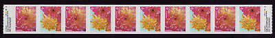 "CANADA 2020 Dahlia coil Strip of 10 w/#'s, ""P"" Full bloom; ""P"" Three blooms MNH"