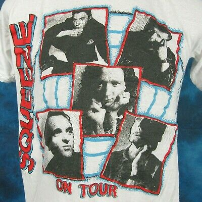 vintage 80s SQUEEZE CONCERT T-Shirt MEDIUM rock new wave pop tour british thin