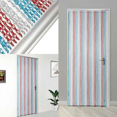 214x90CM Colorful Aluminum Curtain Metal Chain Insect Blinds Screen Pest Control