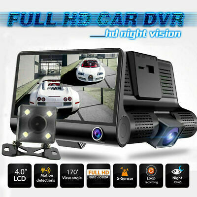 1080p Dash Cam Recorder Touching Front and Rear Car Camera 4'' Dual Lens Car DVR