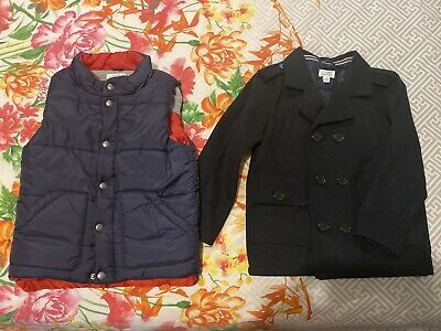 Boys Pumpkin Patch Navy Coat & Puffer Vest Size 6