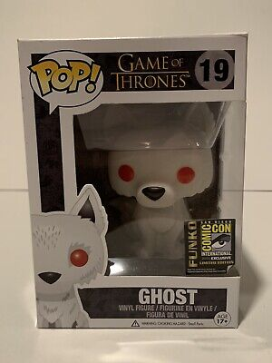 Funko Pop! Game of Thrones Ghost #19 Flocked SDCC 2014 Exclusive