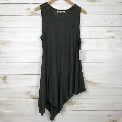 Philosophy Republic Clothing Womens Medium Tunic Tank Top Asymmetrical Hem