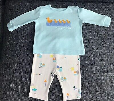 Marks And Spencer Baby Boys Cotton Ducks Set 0-3 Months