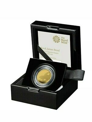 James Bond 2020 UK Quarter-Ounce Gold Proof Coin 007 SOLD OUT Rare Royal Mint