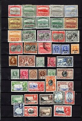 Vintage BRITISH CARIBBEAN collection. 44 stamps on a stock card. Good condition