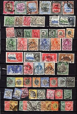 Vintage BRITISH AFRICA 1920-28 collection. 63 Old stamps on a stock card.