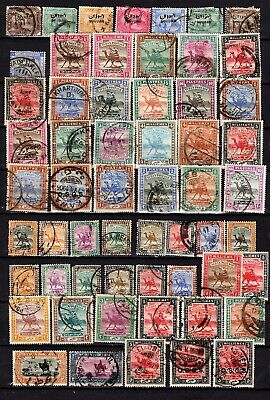 Vintage BRITISH AFRICA 1920-28 collection. 58 Old stamps on a stock card.