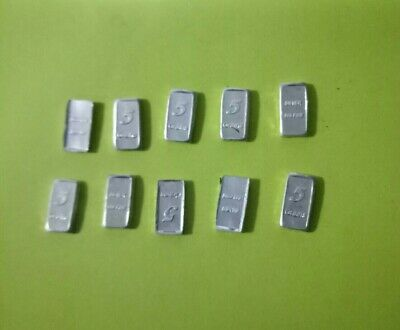 Silver Bullion 10 x5grain minted Bar 999 silver