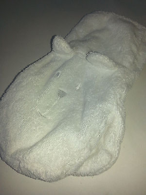 White Bear Wash Cloth Glove Mitten Baby towel teddy bear bath toy baby GAP