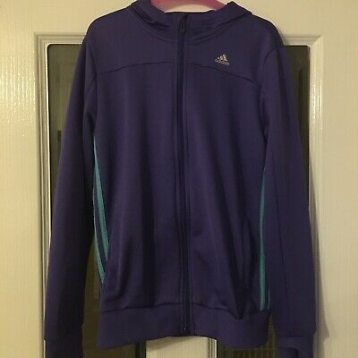 Girls Adidas Hooded Track Top Size 13-14