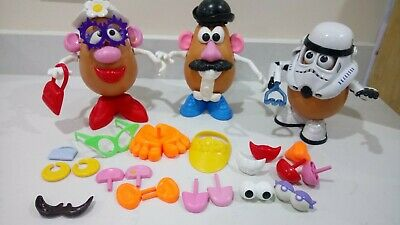 Mr and Mrs Potato Head and Spud Trooper Star Wars with accessories
