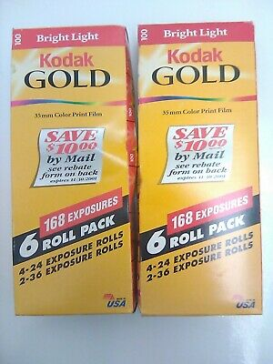 Vintage 12 Rolls Kodak Gold 100 Color Print 35mm Film 336 Exposures