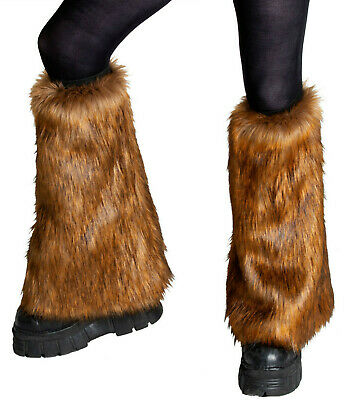 PAWSTAR Furry Leg Warmers - Fluffies Brown Realistic Boot Cover Knee [PFF]2512