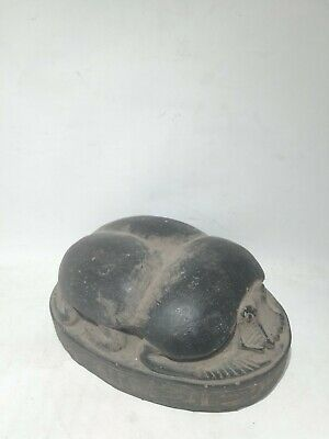 RARE ANCIENT EGYPTIAN ANTIQUE Scarab  Beetle Hieroglyphs Carved Stone 1634 Bc