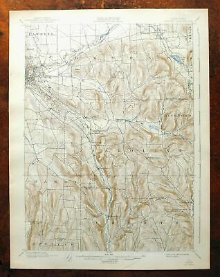 Dryden New York Vintage Original USGS Topo Map 1900 Ithaca 15-minute Topographic