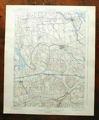 Baldwinsville New York Vintage USGS Topo Map 1900 Fairmount Topographical