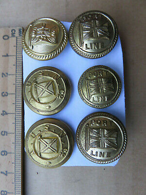 Old Ship Shipping Line Buttons Port Line Ausn Co Sus
