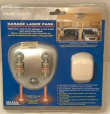 Maxsa Innovations Dual Laser Garage Parking Guide Indicator 37312 For Two Cars
