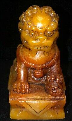 Chinese Exquisite Hand carved Dragon Shoushan Stone seal