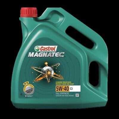 4L Car Engine Oil 4 Litres 5W40 C3 Fully Synthetic dexos2 Spec Castrol Magnatec