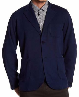New with Tag - $595 ROBERT GRAHAM Easy Cotton Knit Navy Blazer Size XL