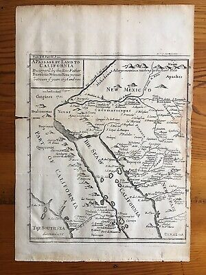 Scarce & Important A Passage By Land To California 1721 Map Eusebius Kino