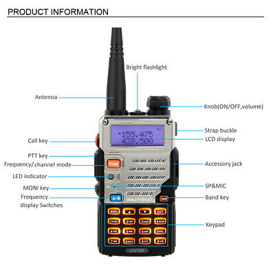 Baofeng UV-5XP 4W Walkie Talkie UHF VHF FM Two Way Radio Scanner Transceive
