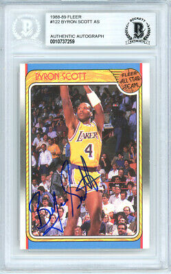 Byron Scott Autographed Signed 1988-89 Fleer Card #122 Lakers Beckett 10737259