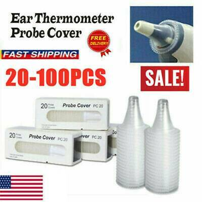 100 For Braun Probe Cover Thermoscan Replacement Lens Ear Thermometer Filter US