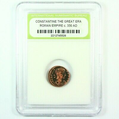 Slabbed Ancient Roman Constantine the Great Coin c. 330 AD Exact Coin Shown 6246