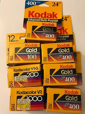 7 Rolls Kodak Color 35mm Film. -Expired-