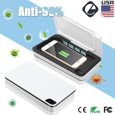 Portable UV Cell Phone Sanitizer Wireless Charging Charger&Aroma Sterilizer Box