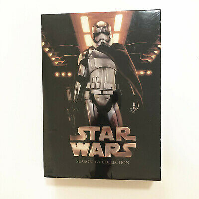 Star Wars: The Complete Seasons I-VIII 1-8 (Exclusive,DVD, 14-Disc Set)Brand New
