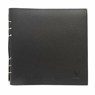 MINT! Authentic LOUIS VUITTON Taiga Vand Lady Note Cover Ardoise Black /047082