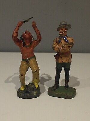 Elastolin Germany - 2 Wildwest Figuren - 8 cm