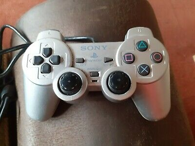 Sony PS2 Playstation 2 Official Dualshock 2 Game Controller In Silver