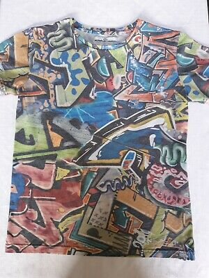 Marks and Spencer Graffiti Boys T Shirt Age 11-12 Years Used