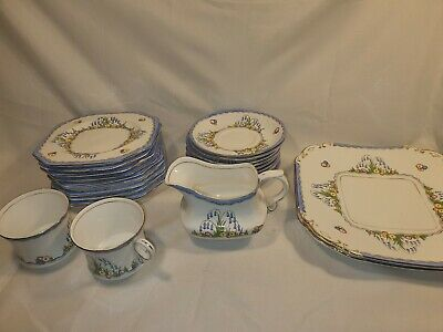 Vintage Savoy China Blue Floral Pattern Various Pieces In great Condition