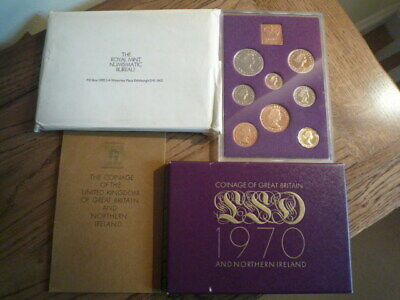 1970 Royal Mint Proof coin set,cased & boxed with all extra's,one only.