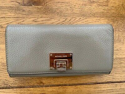 Michael Kors Astrad Large Ladies Leather Purse Taupe