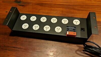 "MFB 19"" Server Rack 2RU 10 Outlet Power Distribution Board, 10A, Surge Protected"