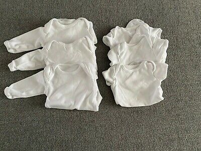 White Baby Long And Short Sleeve Vests First Size
