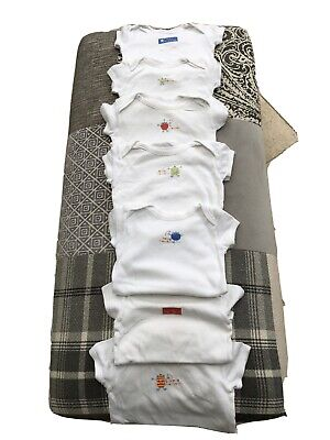 Baby Boy Vests X 7 Marks and Spencer M&S 6-9m