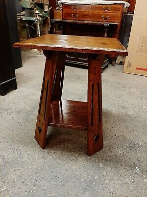 Lovely Antique Arts & Crafts Oak Side Table Good Condition.