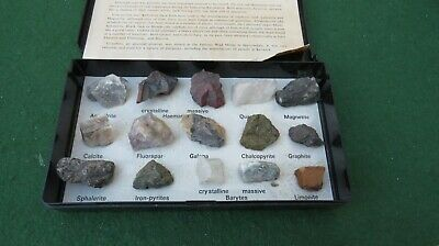 Minerals Of Cumbria And The Lake District In A Plastic Box (Broken Hinge)